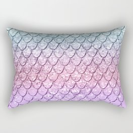 Mermaid Scales on Unicorn Girls Glitter #4 #shiny #pastel #decor #art #society6 Rectangular Pillow