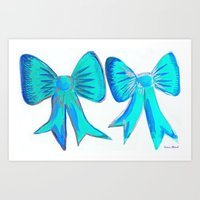 bows Art Prints featuring Bows by Samaa Ahmed