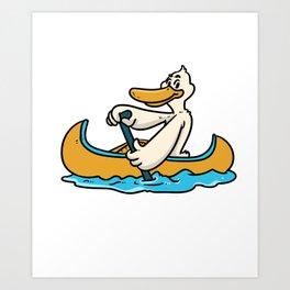 Canoe Kayak Canoe Gift Canoes kayaker Art Print