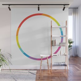 Pride: Rainbow Geometric Circle Wall Mural