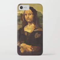 mona lisa iPhone & iPod Cases featuring Mona Lisa by Robert Morris