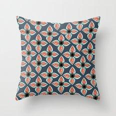 Navy Boho Throw Pillow