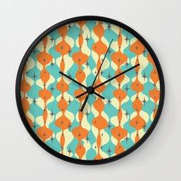 Mid Century Modern Waves Wall Clock