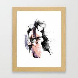 Shibari - Japanese BDSM Art Painting #9 Framed Art Print