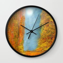 Colorful Woodlands Wall Clock
