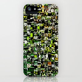 Jumbled Text Pattern iPhone Case
