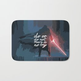 """Do or do not there is no try...""""Yoda"""" Life Inspirational Quote (Abstract Art) Bath Mat"""