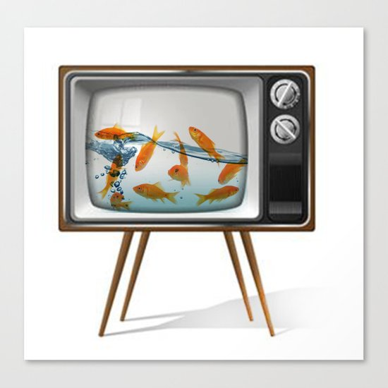 Fish Bowl TV _ 02 Canvas Print