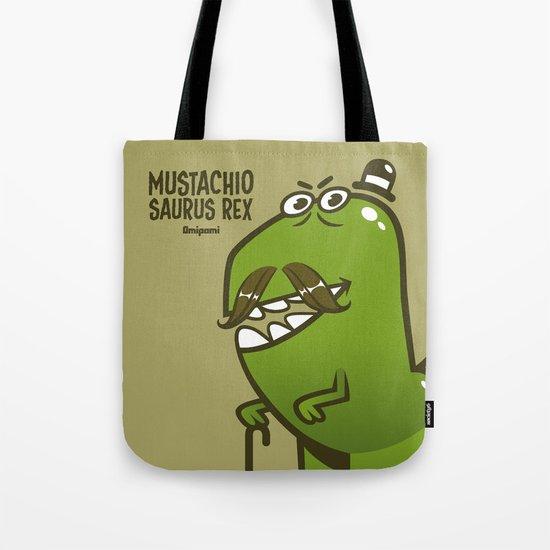 Mustachio Saurus Rex Tote Bag