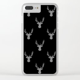 Mini Deer Pattern Clear iPhone Case
