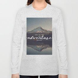 Trillium Adventure Begins - Nature Photography Long Sleeve T-shirt