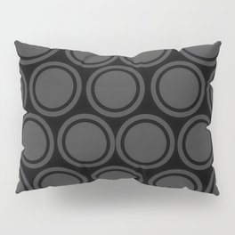 Black and Grey Circles | Mod Graphic Pattern #2 | Nadia Bonello | Canada Pillow Sham