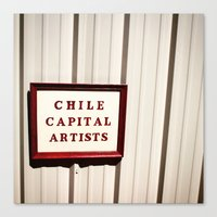 chile Canvas Prints featuring chile capital by monofreshest