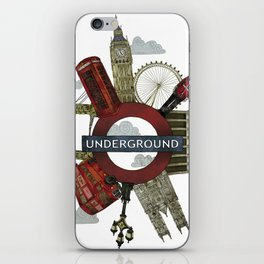 Around London digital illustration iPhone Skin