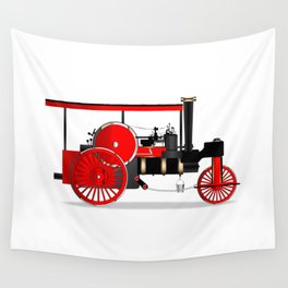 Vintage Steam Roller Wall Tapestry