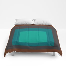 Block Colors - Browns and Teals Comforters