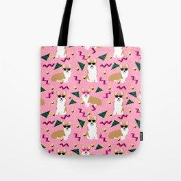 Rad Corgi Dog - 80s, 90s retro style rad corgi cute corgi design - pink Tote Bag