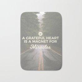 Grateful Heart Miracle Magnet Bath Mat