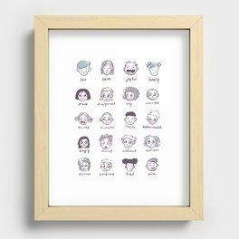 Emotions & Feelings Recessed Framed Print
