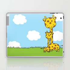 Giraffe Hugs Laptop & iPad Skin
