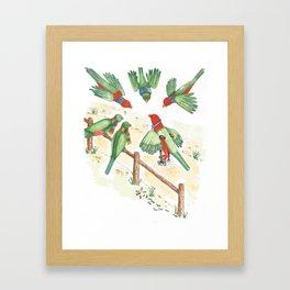 Birds of a Feather Flocking Together Framed Art Print
