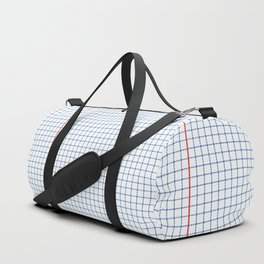 Dotted Grid Red and Blue Duffle Bag