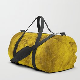 Leaves in a glowing yellow storm Duffle Bag