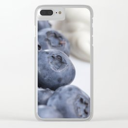 blueberry berries Clear iPhone Case