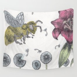 Bee Happy 2 Wall Tapestry