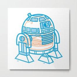 Cheeseburger R2-D2 Metal Print
