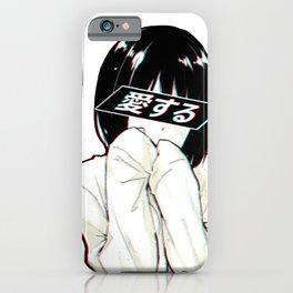 ALONE - Sad Japanese Anime Aesthetic iPhone Case
