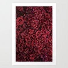 Flower Market 3 - Red Roses Art Print