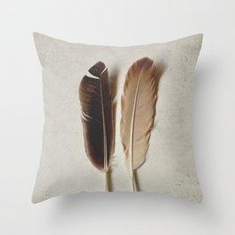 Feathered Pair Throw Pillow