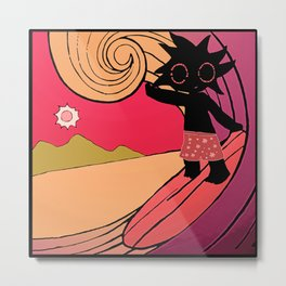 Mr Bloop surfing Metal Print