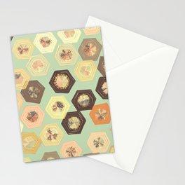 Retro Ruffled Hexagons Stationery Cards