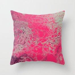 Pink Lava Throw Pillow