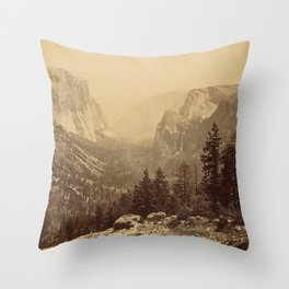 Yosemite Valley from Inspiration Point Throw Pillow
