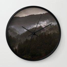 Foggy morning in Bosnia Wall Clock