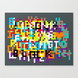 color coded confusion Canvas Print