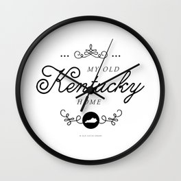 My Old Kentucky Home (Southern Home State Series) Wall Clock