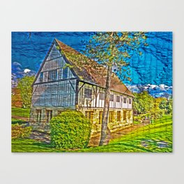 York Hospitium with added textures  Canvas Print