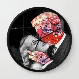 Bloomy Kiss Wall Clock