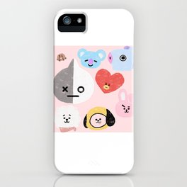 BTS21 Characters in Pastel iPhone Case