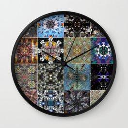 16 mandala Wall Clock
