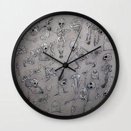 Skeleton Fun Wall Clock