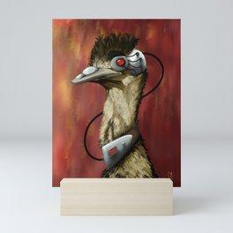 Cyberpunk emu Mini Art Print