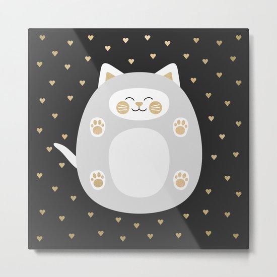 Kitten Love / Golden Version Metal Print