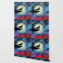 Starry Night(Wolf) Wallpaper