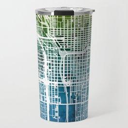 Chicago City Street Map Travel Mug