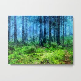 Nature Forest Green Metal Print